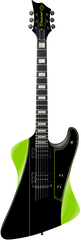Diamond Hailfire ST Electric Guitar - Black and Hemi-Green