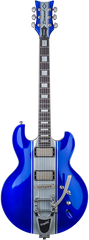 Diamond Imperial AB 3 Electric Guitar With Bigsby Tremolo - Blue with Silver Stripes