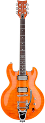 Diamond Imperial FM 3 Electric Guitar With Bigsby Tremolo - Trans Burnt Orange