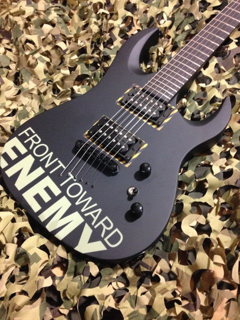Diamond Halcyon ZB-ST Electric Guitar - Front Toward Enemy Signature