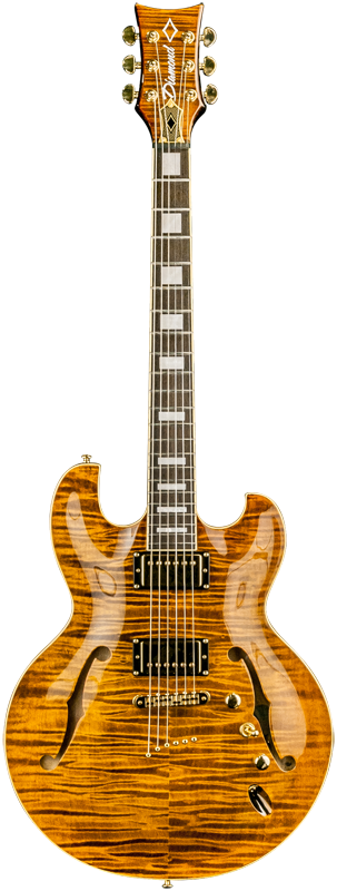Diamond Imperial SH Semi-Hollow Electric Guitar - Tiger's Eye