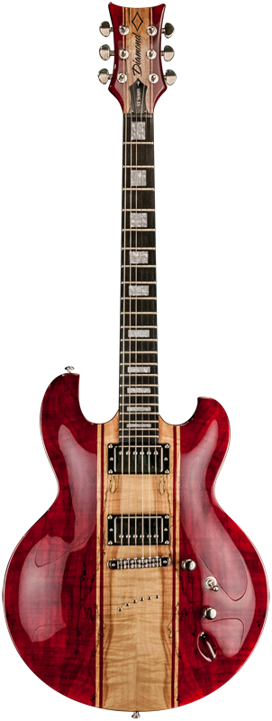 Diamond Imperial ST Electric Guitar - Trans Red