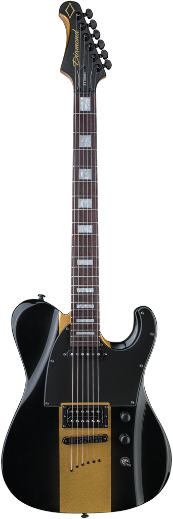 Diamond Maverick ST Electric Guitar - Black and Gold