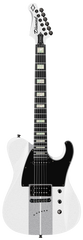 Diamond Maverick ST Electric Guitar - White with Silver Stripes