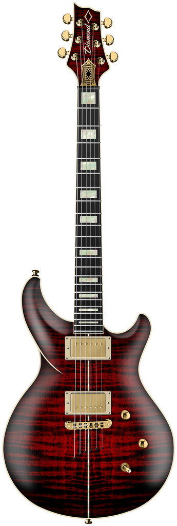 Diamond Monarch FM Electric Guitar - Satin Ruby
