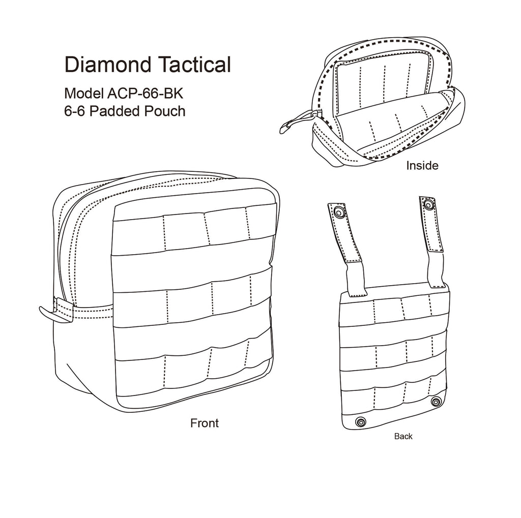 DIAMOND TACTICAL 6-6 PADDED POUCH