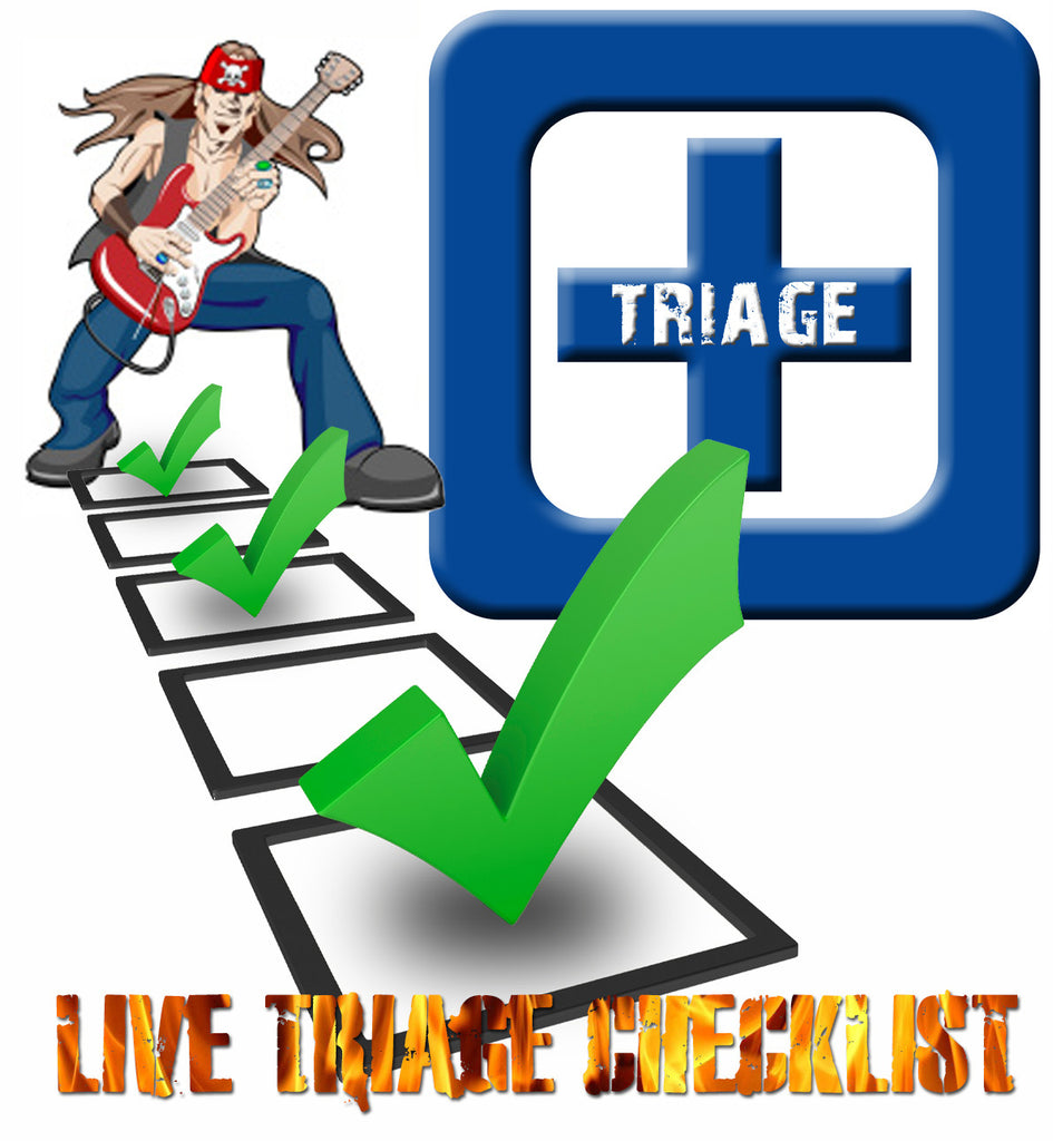 Guitar Live Triage Emergency Checklist