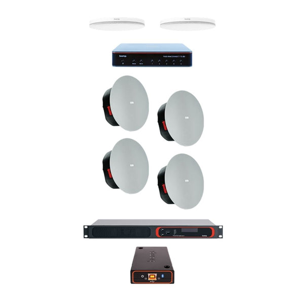 Biamp LRB-C - Complete large meeting room kit met Parlé Plafondmicrofoon
