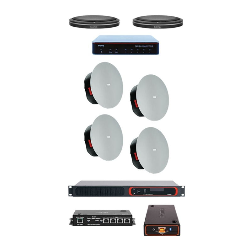 Biamp LRB-T - Complete large meeting room kit met Parlé tafelmicrofoon
