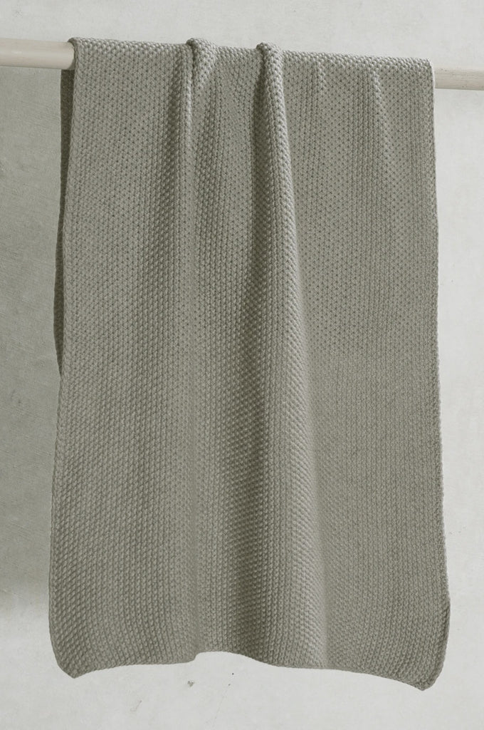 Knitted Hand Towel - Taupe - FrenchWillow
