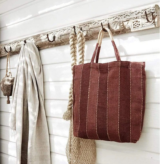 Tannin Jute Shopping Bag - FrenchWillow