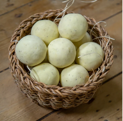 Rolled Soap Ball - Lemon Lime Poppy - FrenchWillow