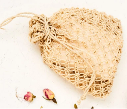 Hemp Soap Saver Bag - FrenchWillow