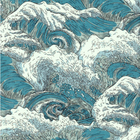 * PRE-ORDER Liberty Tana Lawn - Vespertine Wave A (50cm fabric) - FrenchWillow