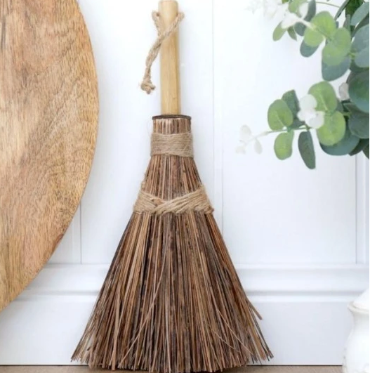 Mini Coconut Palm Broom - FrenchWillow
