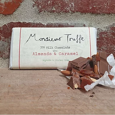 Milk Chocolate with Caramelised Almonds - FrenchWillow