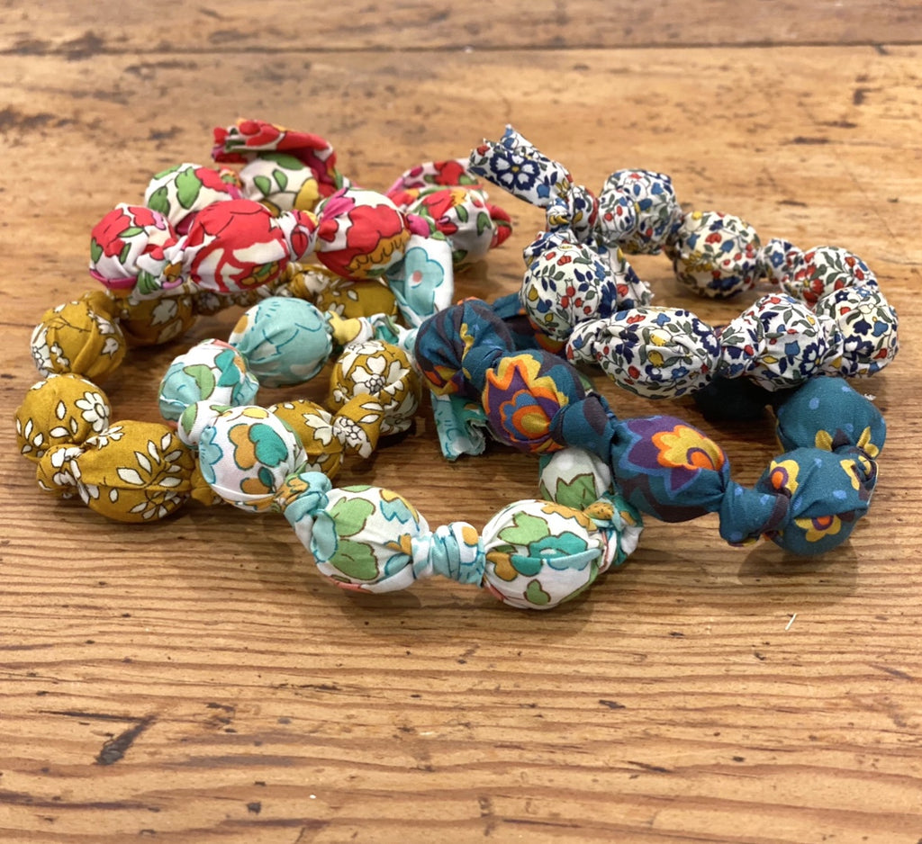 Fabric Covered Bead Bracelet - Liberty Tana Lawn (assorted fabrics) - FrenchWillow