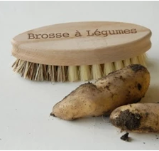 Vegetable Brush - French Text - FrenchWillow