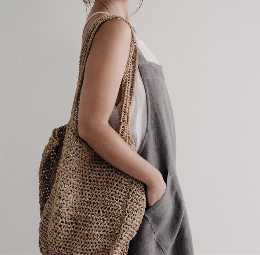 Jute Tote Bag - Charcoal - FrenchWillow