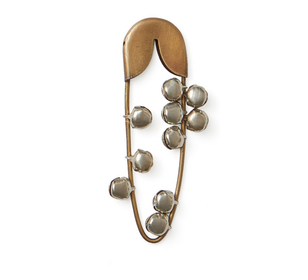 Brass Safety Pin with Bells - FrenchWillow