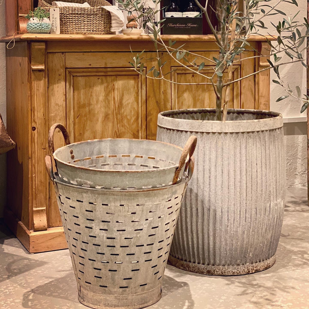 Vintage Turkish Olive Bucket - Large - FrenchWillow