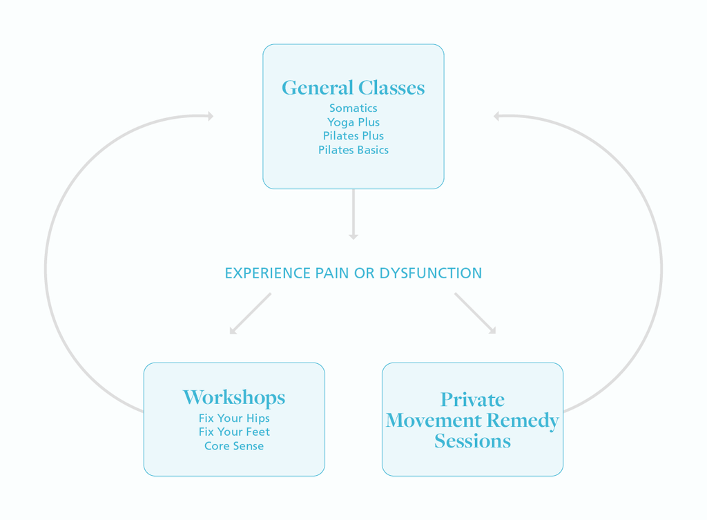 Flowchart that describes classes in the movement program