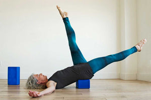 Heather using a Yoga Big Block