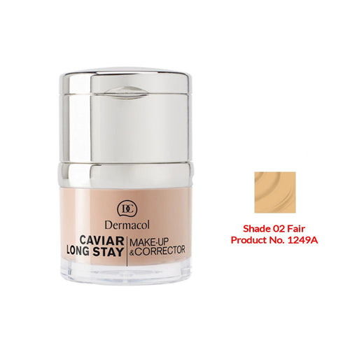 Dermacol Caviar Long Stay Make-Up & Corrector - Fair No.02