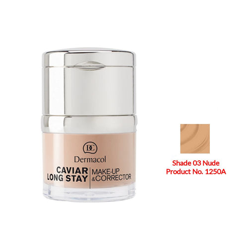 Dermacol Caviar Long Stay Make-Up & Corrector - Nude No.03