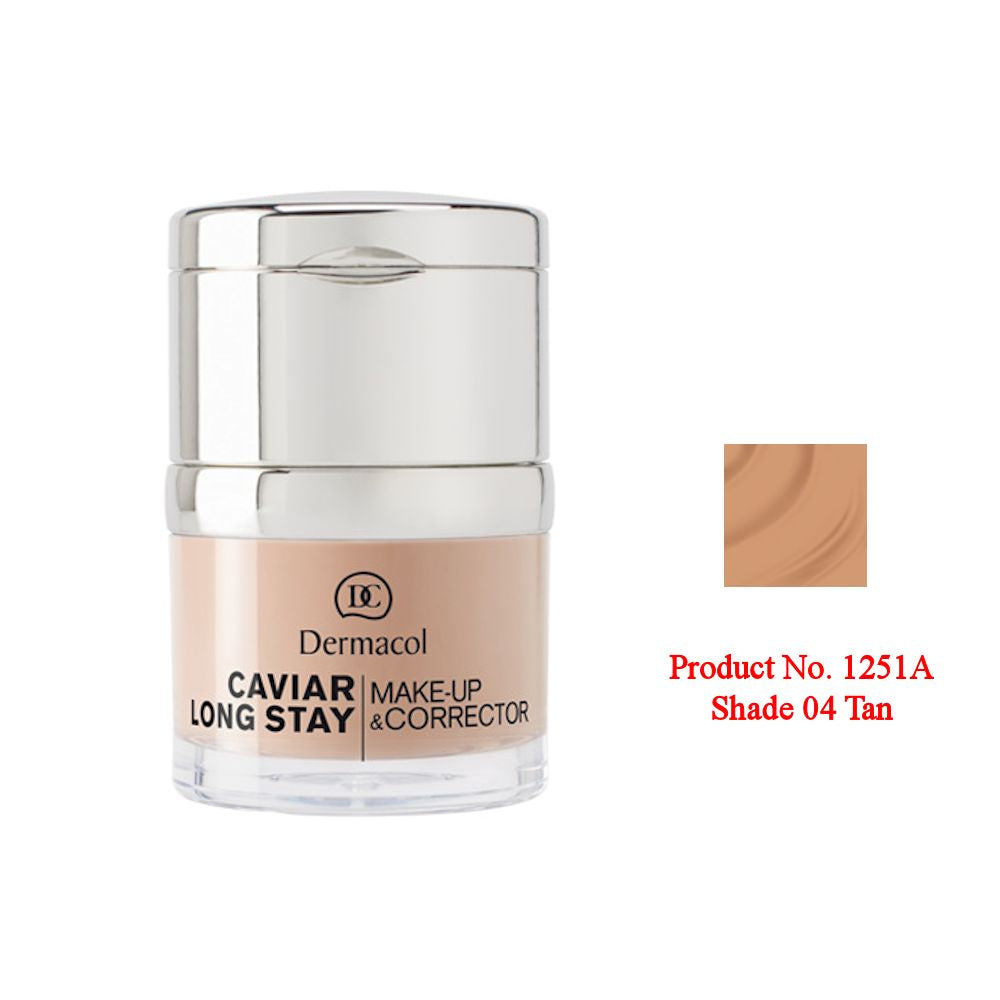 Dermacol Caviar Long Stay Make-Up & Corrector - Tan No.04