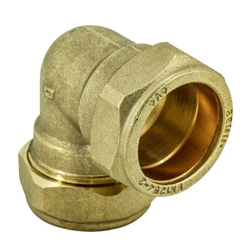 Brass Compression Elbow