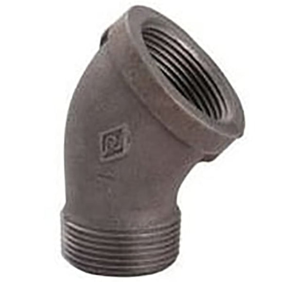 Black Malleable 45Dg Elbow MxF