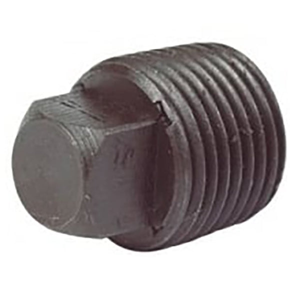 Black Malleable Plug (Hollow)