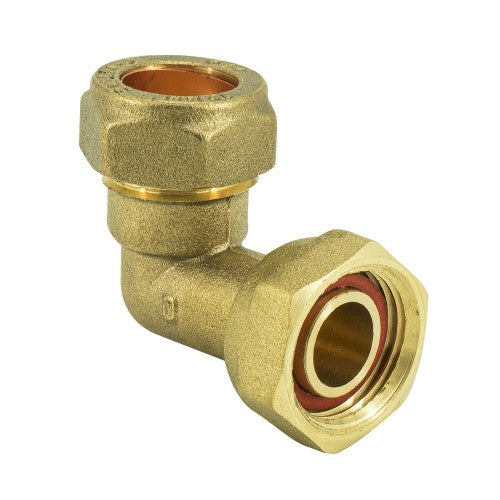 Brass Compression BENT Tap connector