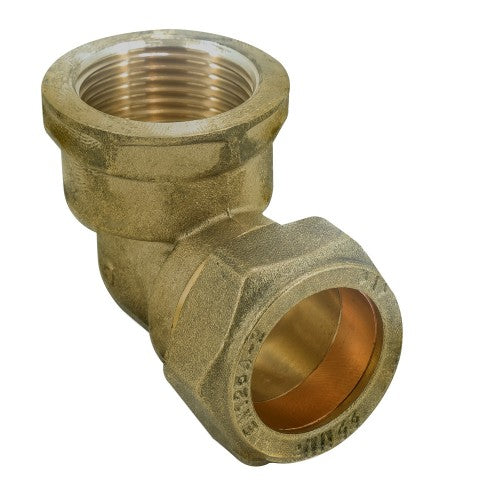 Brass Compression Female Elbow