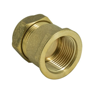 Brass Compression Straight Female Adapter
