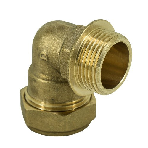 Brass Compression Elbow to Male Iron