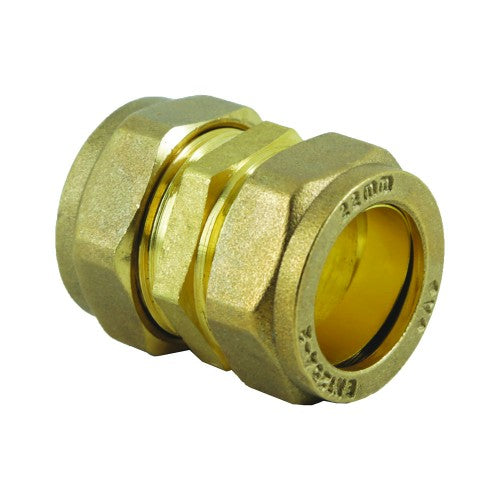 Brass Compression Straight Coupler