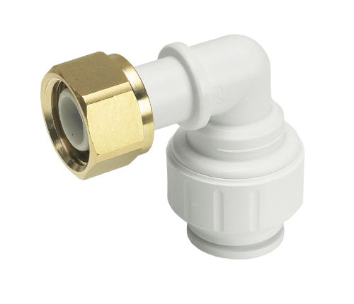 Speedfit Bent Tap connector Push Fit to Swivel Nut 15mm x 1/2