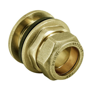 Brass Compression Tank Connector for Copper Tube