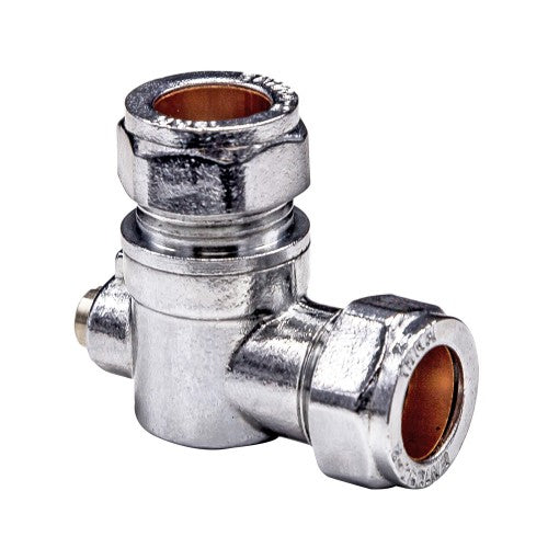 Angled Service Valve 15mm x 15mm Compression