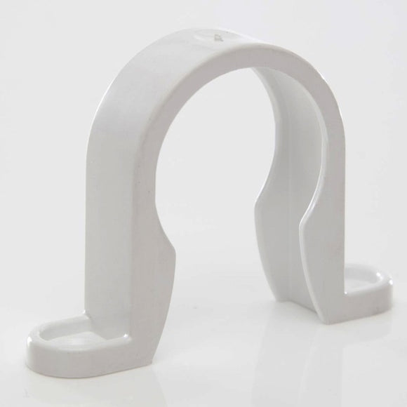 Plastic Pipe Clip for Solvent Weld Waste Pipe White