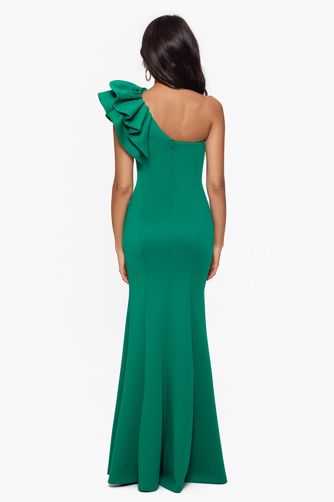 Maia One Shoulder Long Scuba Gown