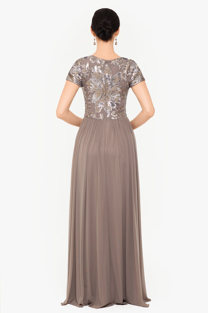 Natalia Long Mesh Sequin Gown