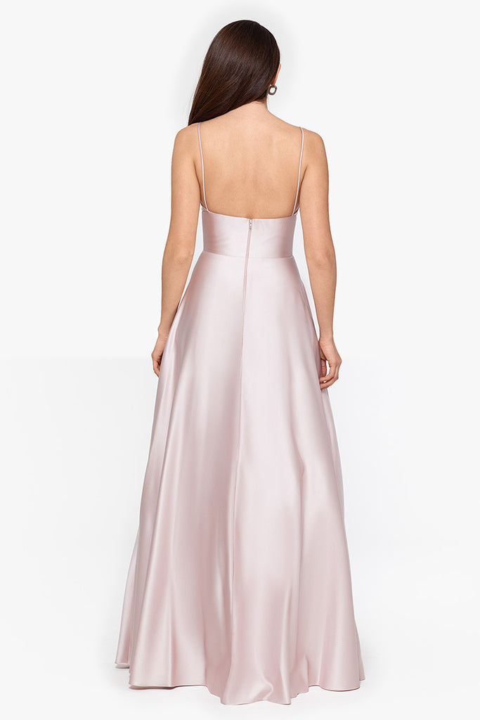 Brooke Long Lamour V-neck Gown