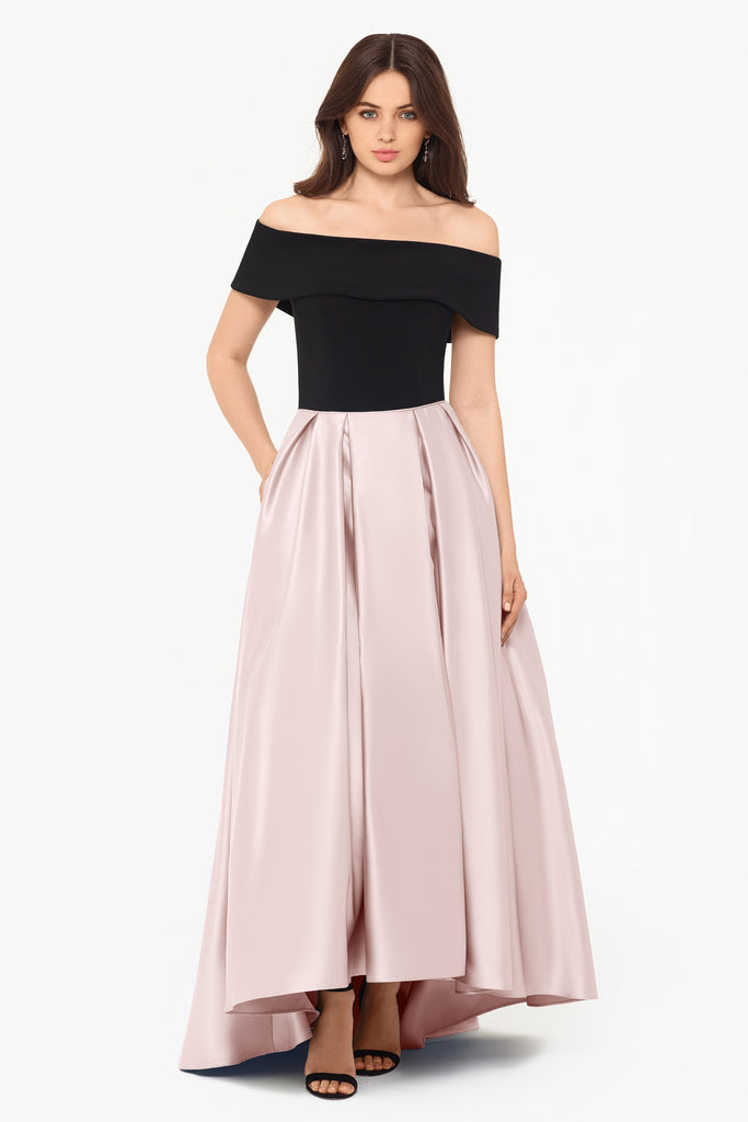 Madison Off the shoulder Satin Gown