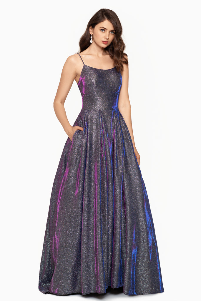 Bella Long High Low Galaxy Ballgown