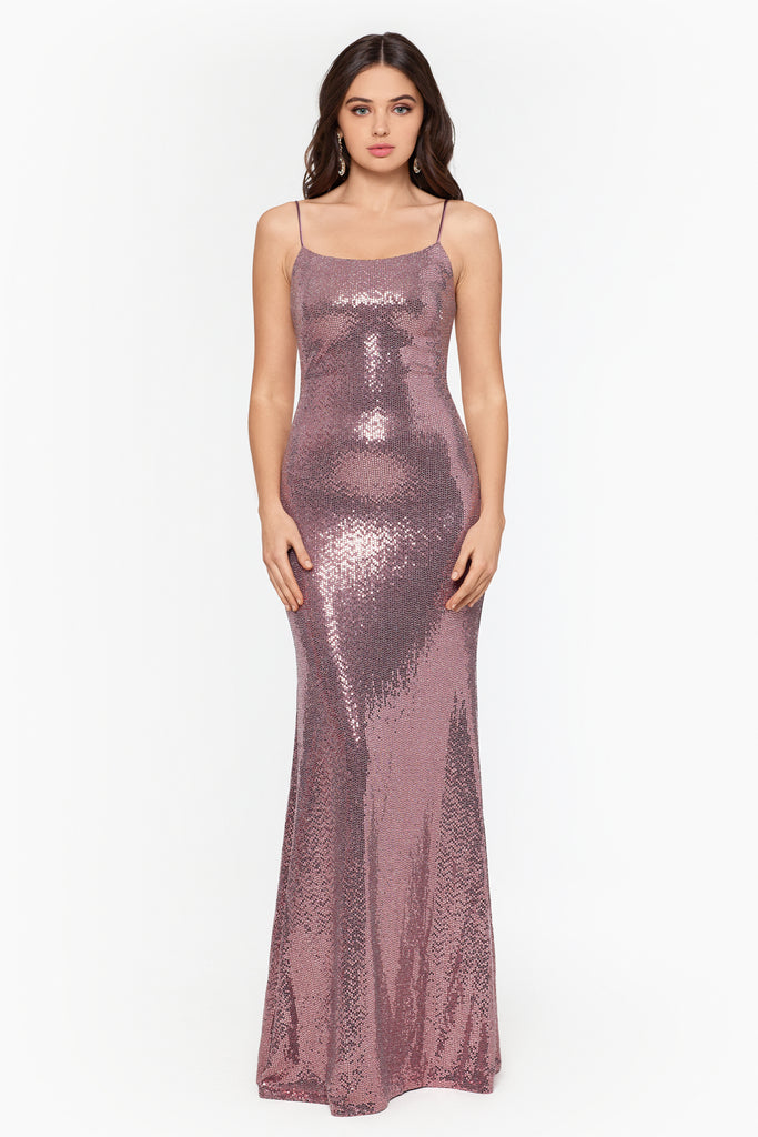 Diamond Long Hologram Knit Gown