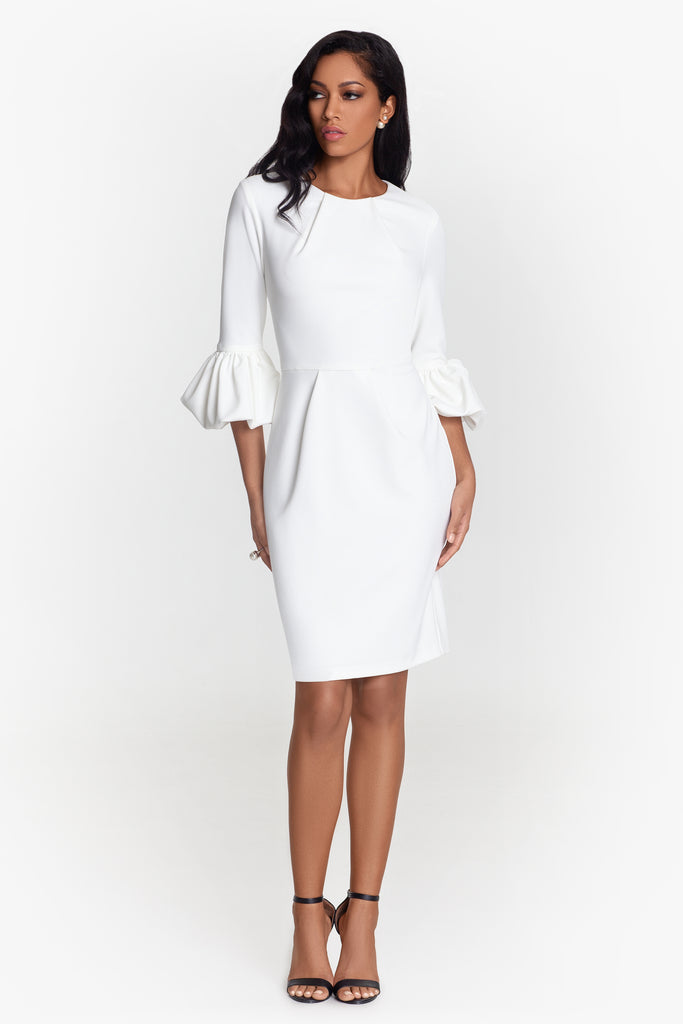 Melanie Bell Sleeve Sheath Dress