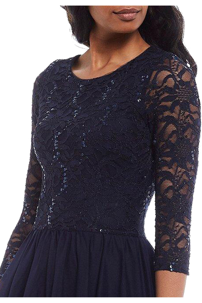 Mailin Long Long Sleeve Lace Mesh Dress